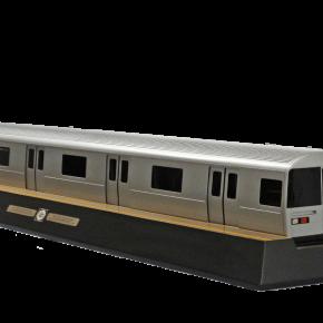 Modèle réduit d'un prototype de voiture du métro de New York R110-B